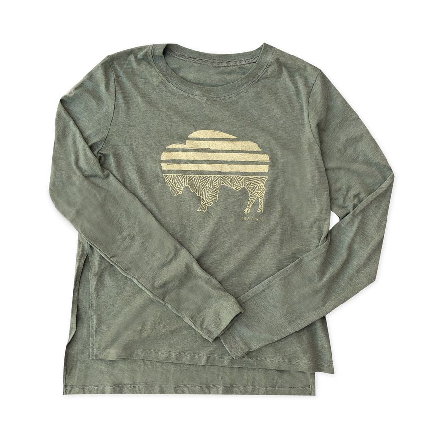 GALS METALLIC BISON LONG SLEEVE TEE