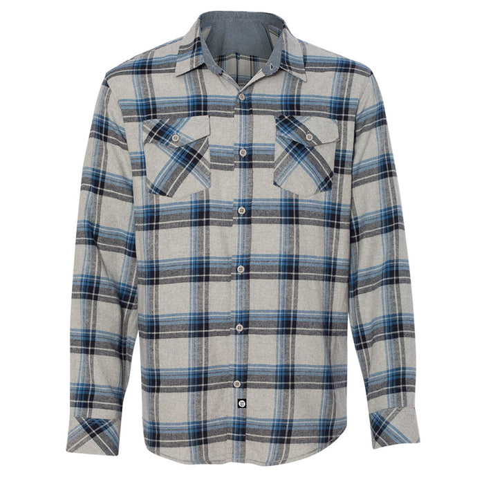 Guys Flannel // Grey + Blue