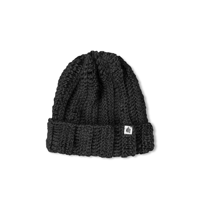 Grey Cuffed Knit Cap