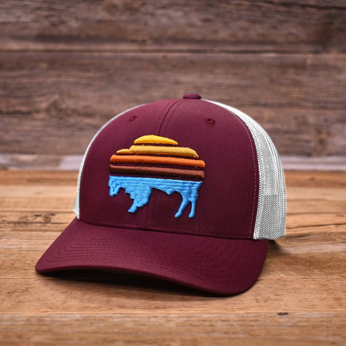 Sunrise Bison Trucker Cap