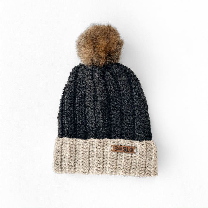 Two-Tone Slouch Knit Cap