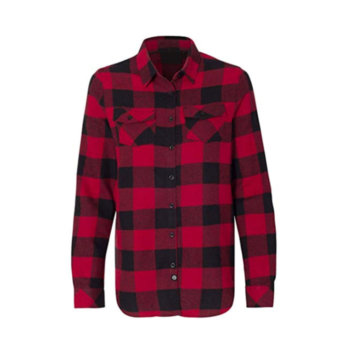 Gals Flannel // Red + Black