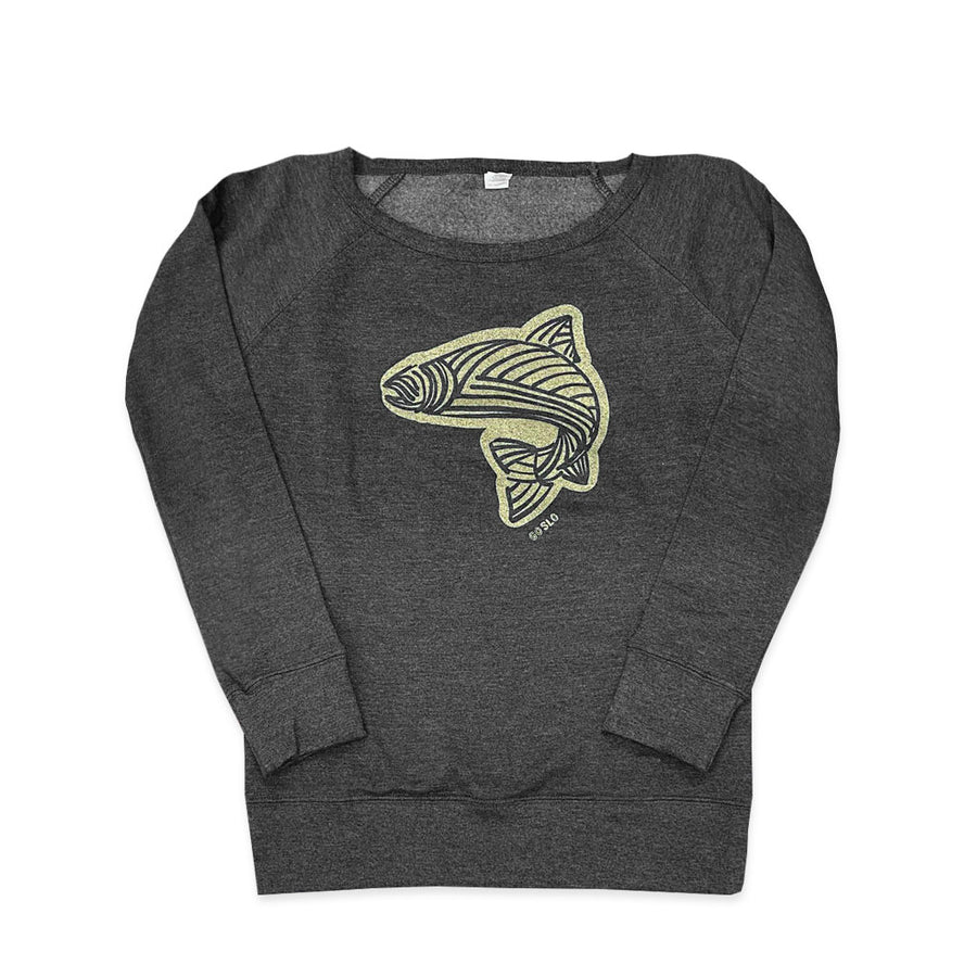 Gals Metallic Gone Fishing Crew Sweatshirt