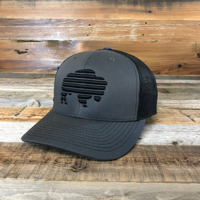WYO // Midnight Buffalo Trucker Cap
