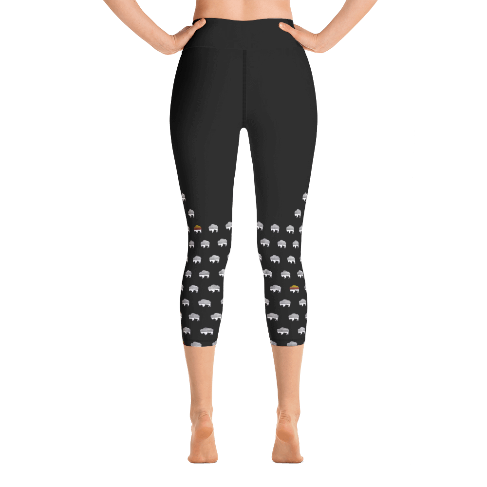 Buffalo Polka High-Waist Capri Leggings