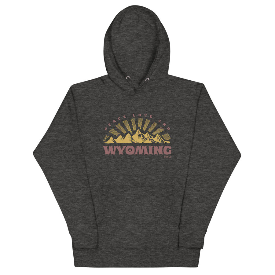 Gals Oversized Peace, Love + Wyoming Hoodie