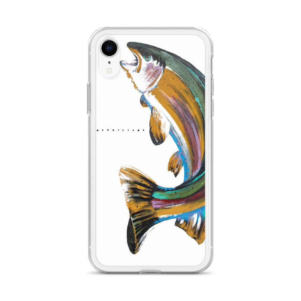 Rainbow Fish Face iPhone Case