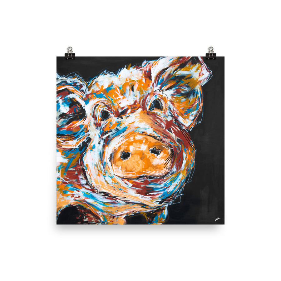 Mabel the Pig Print