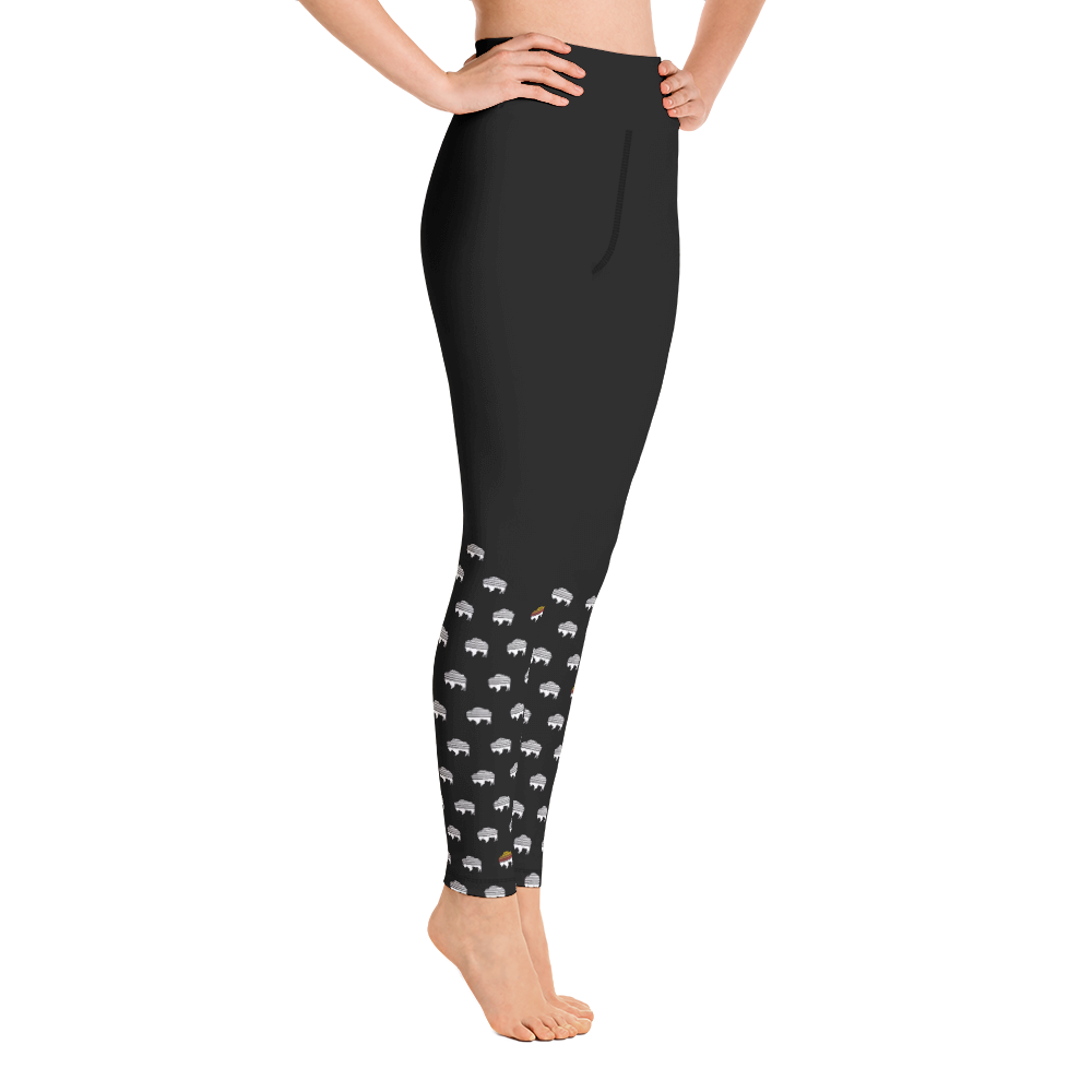 Buffalo Polka High-Waist Leggings