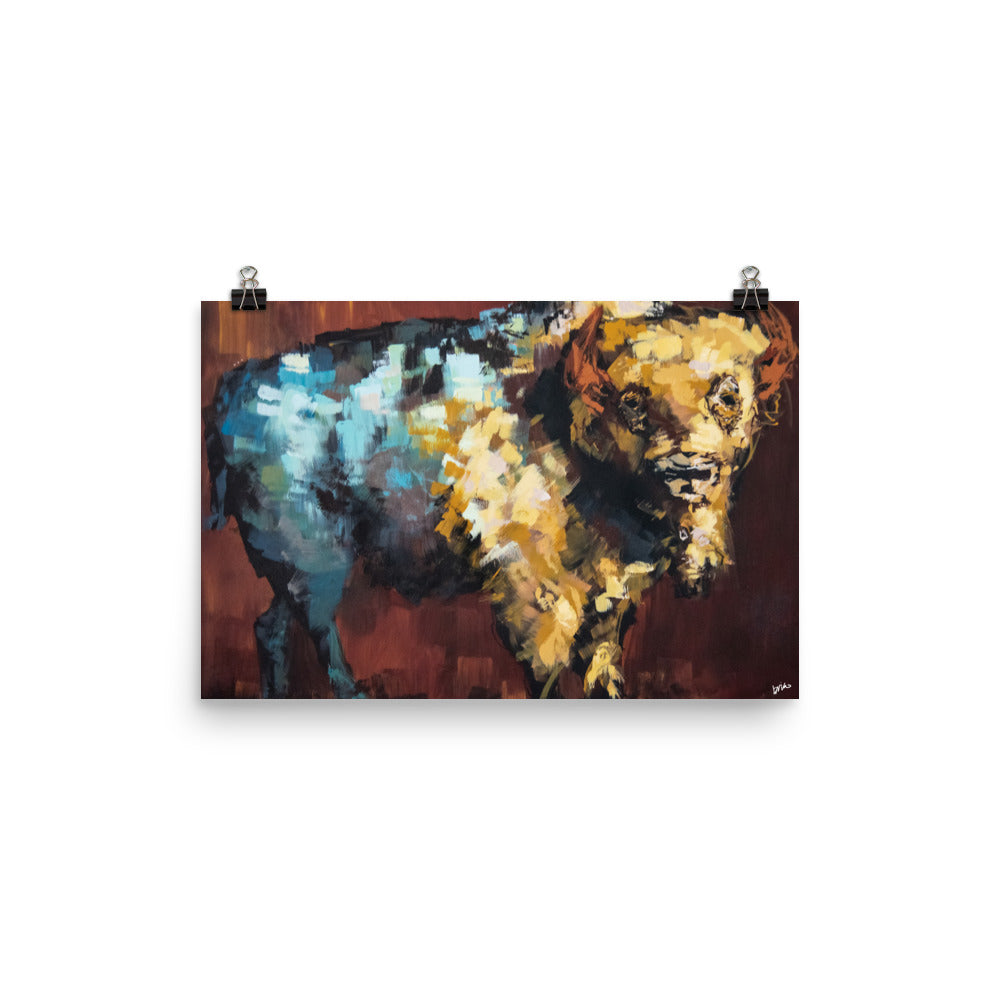 Finn the Bison Print