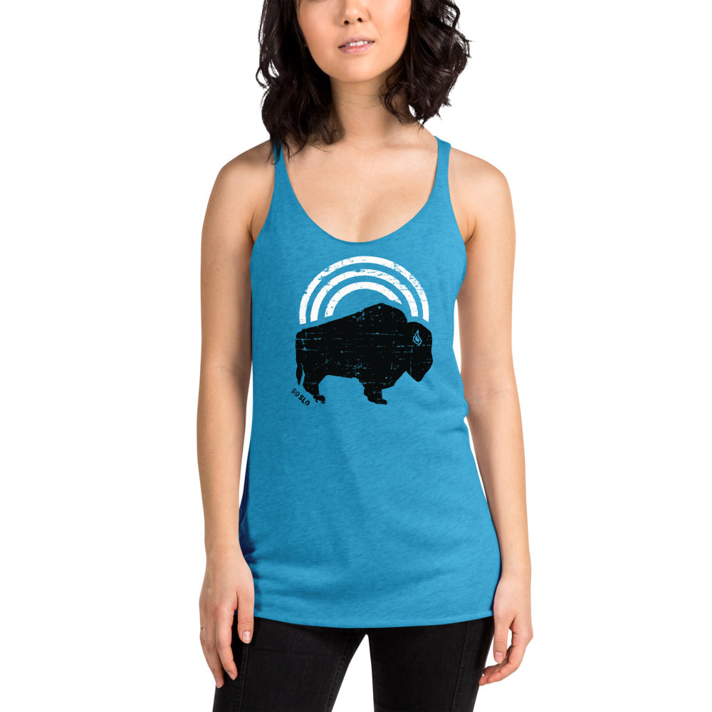Gals Bison Bow Racerback Tank