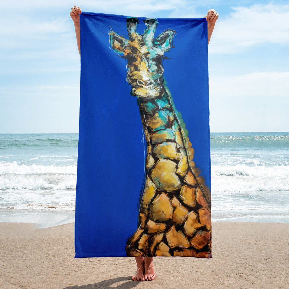 Phil the Giraffe Oversized Beach Towel