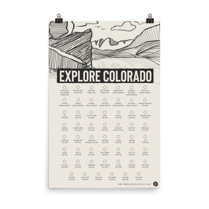 Explore Colorado Poster Print