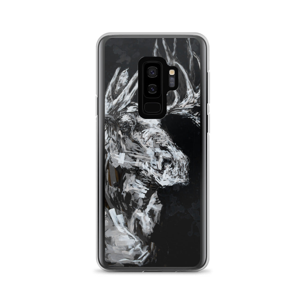 The Black + White Moose Samsung Case
