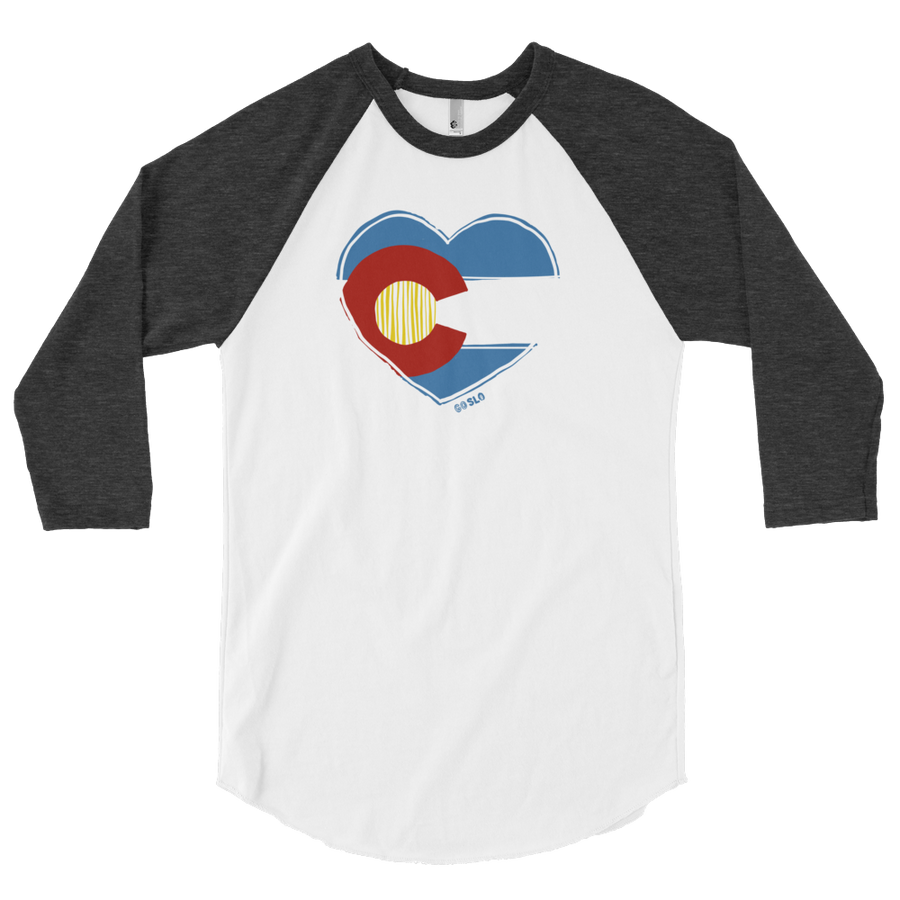 Gals Colorado Love Baseball Tee