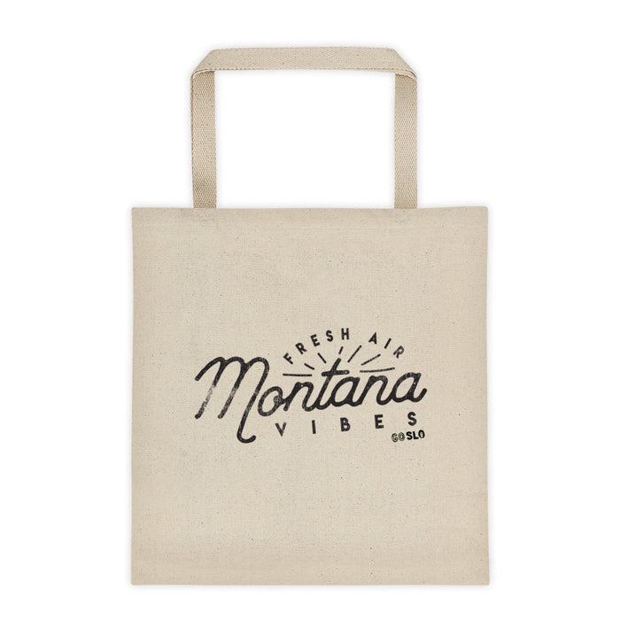 Montana Vibes Canvas Tote