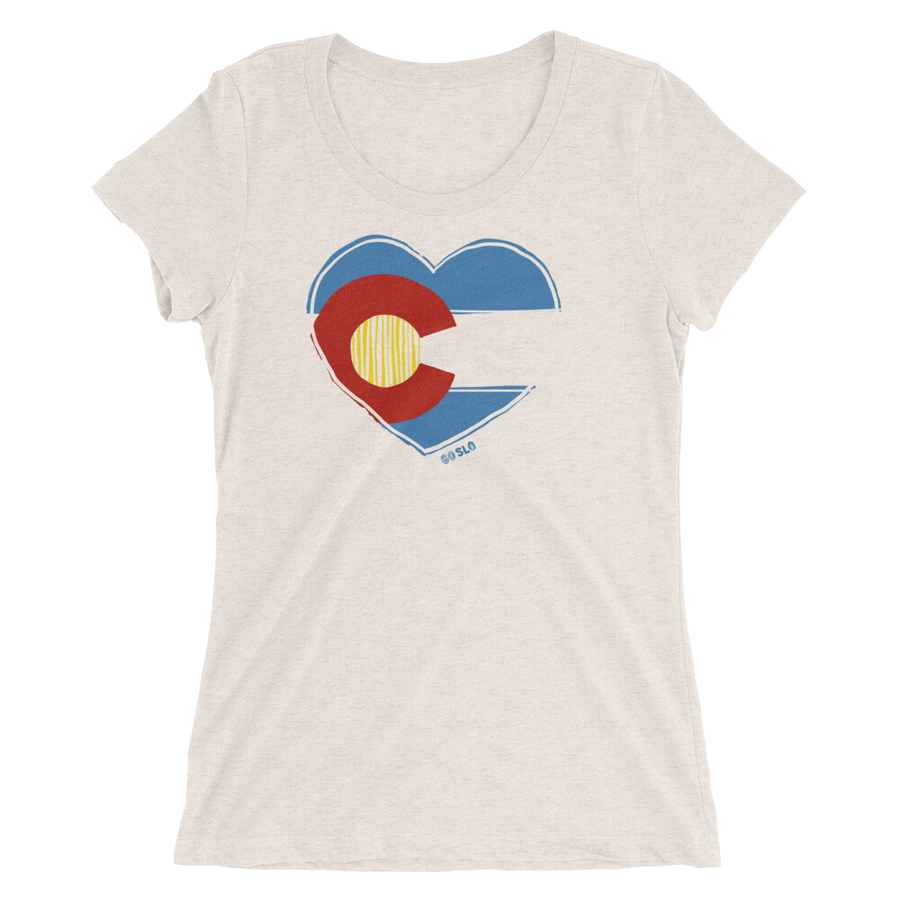 Gals Colorado Love Fit Tee