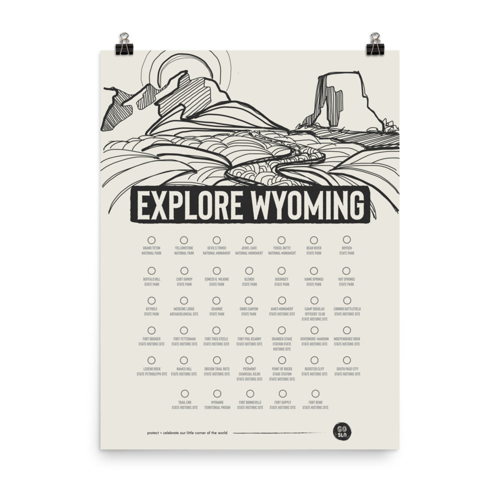 Explore Wyoming Poster Print