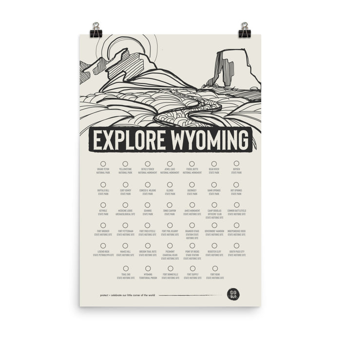 Explore Wyoming Print