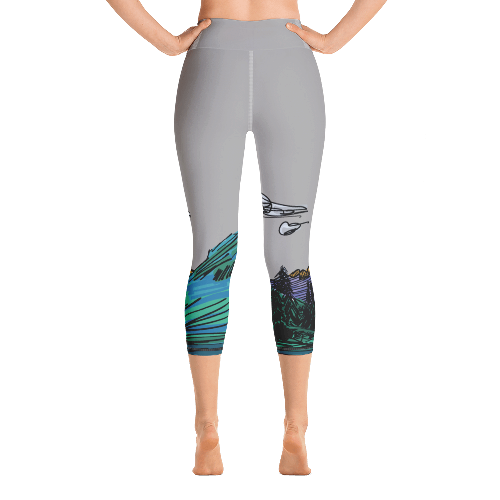 COLORADO // Maroon Bells High-Waist Capri Leggings