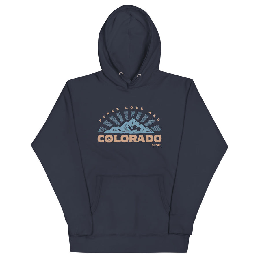 Gals Oversized Peace, Love + Colorado Hoodie