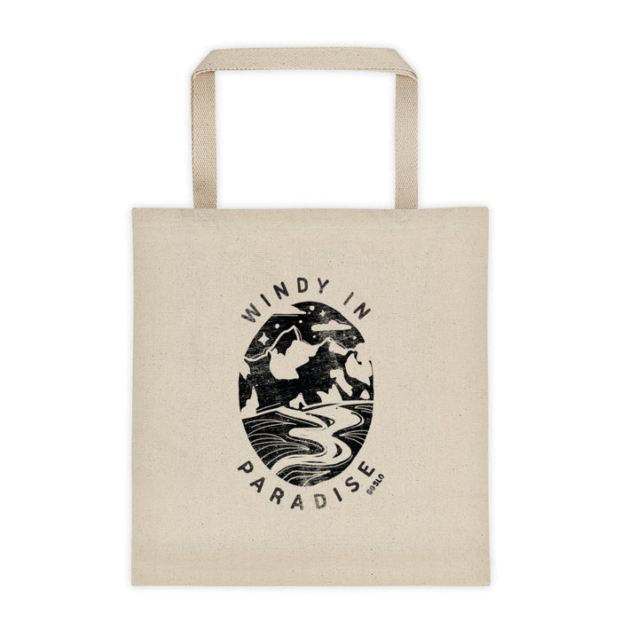 Windy in Paradise Canvas Tote