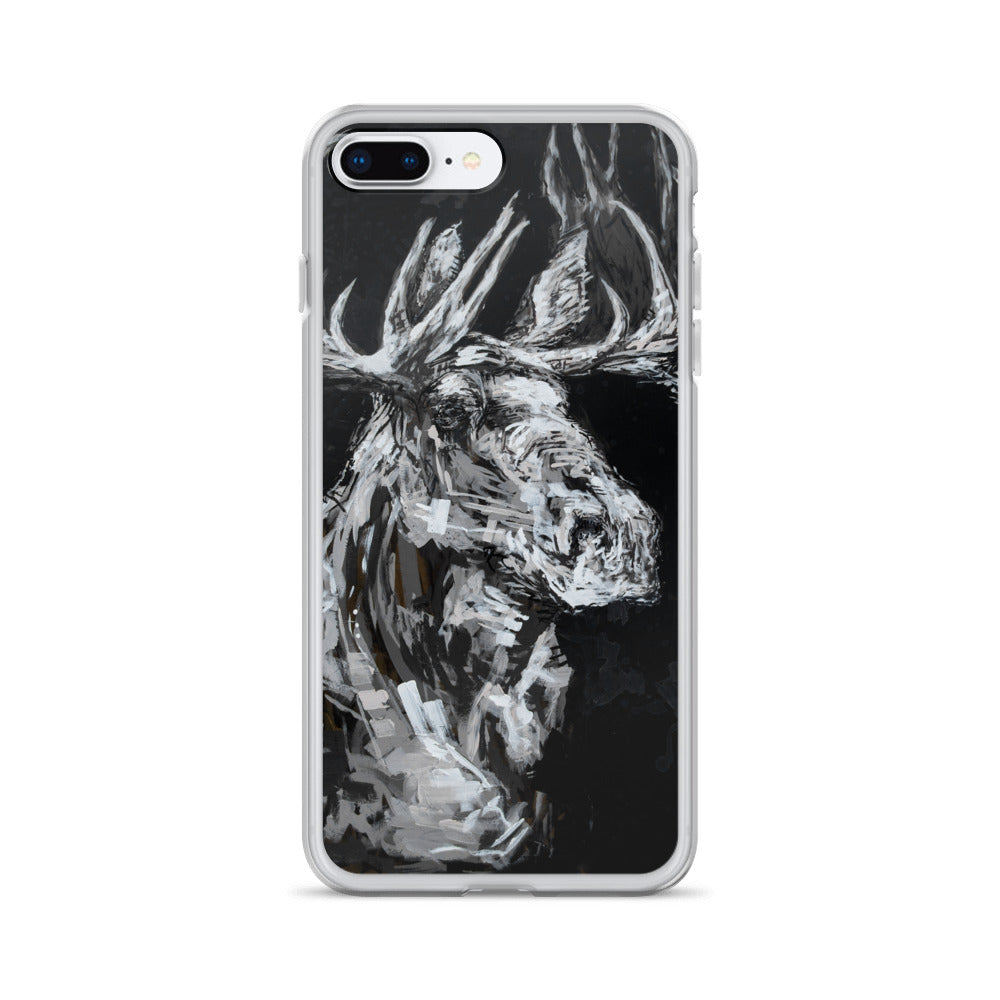 The Black + White Mooise iPhone Case