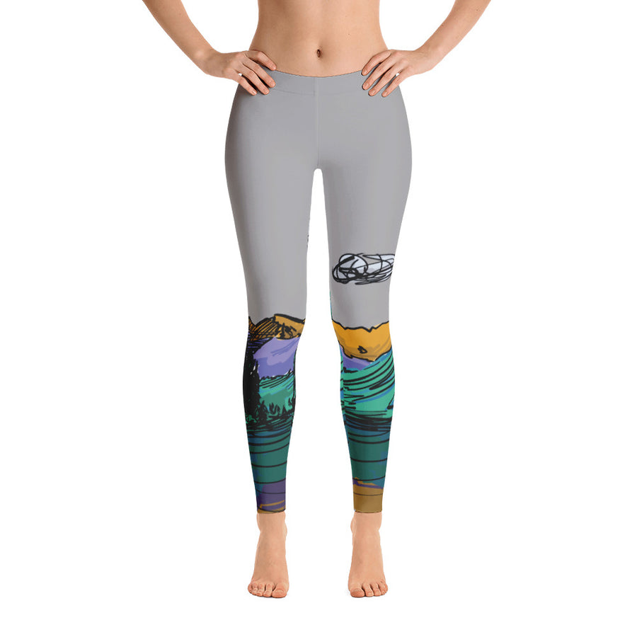 COLORADO // Maroon Bells Mid-Waist Leggings