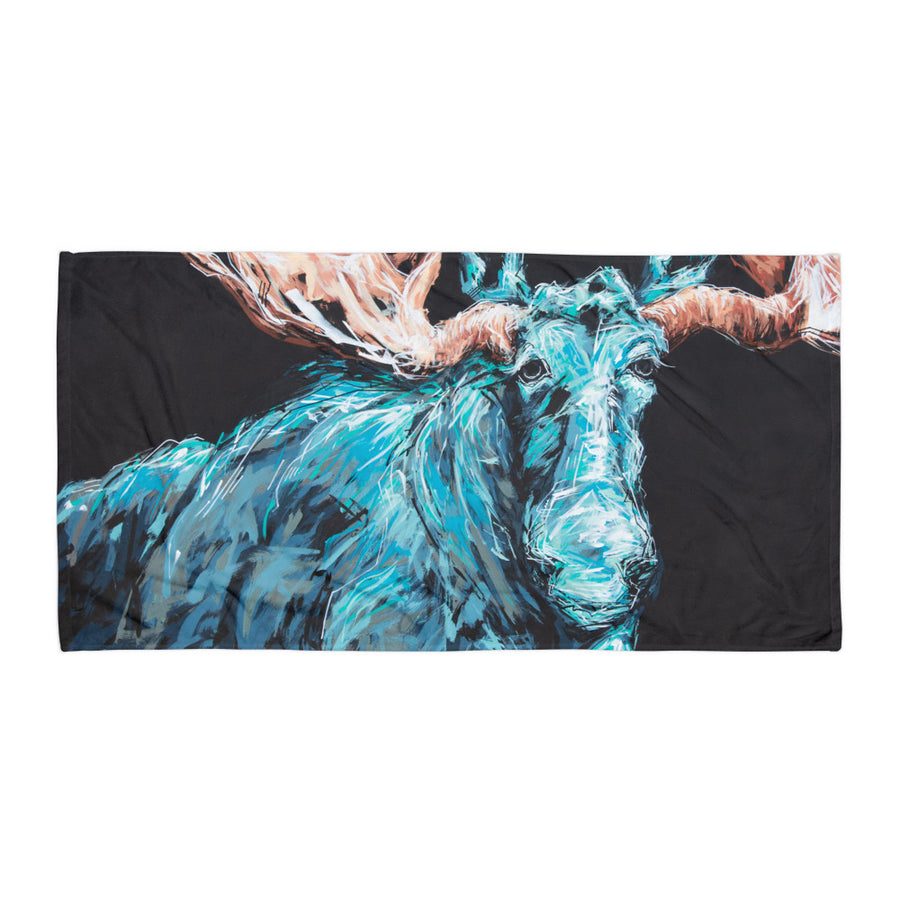 Charlotte the Moose Oversized Beach Towel