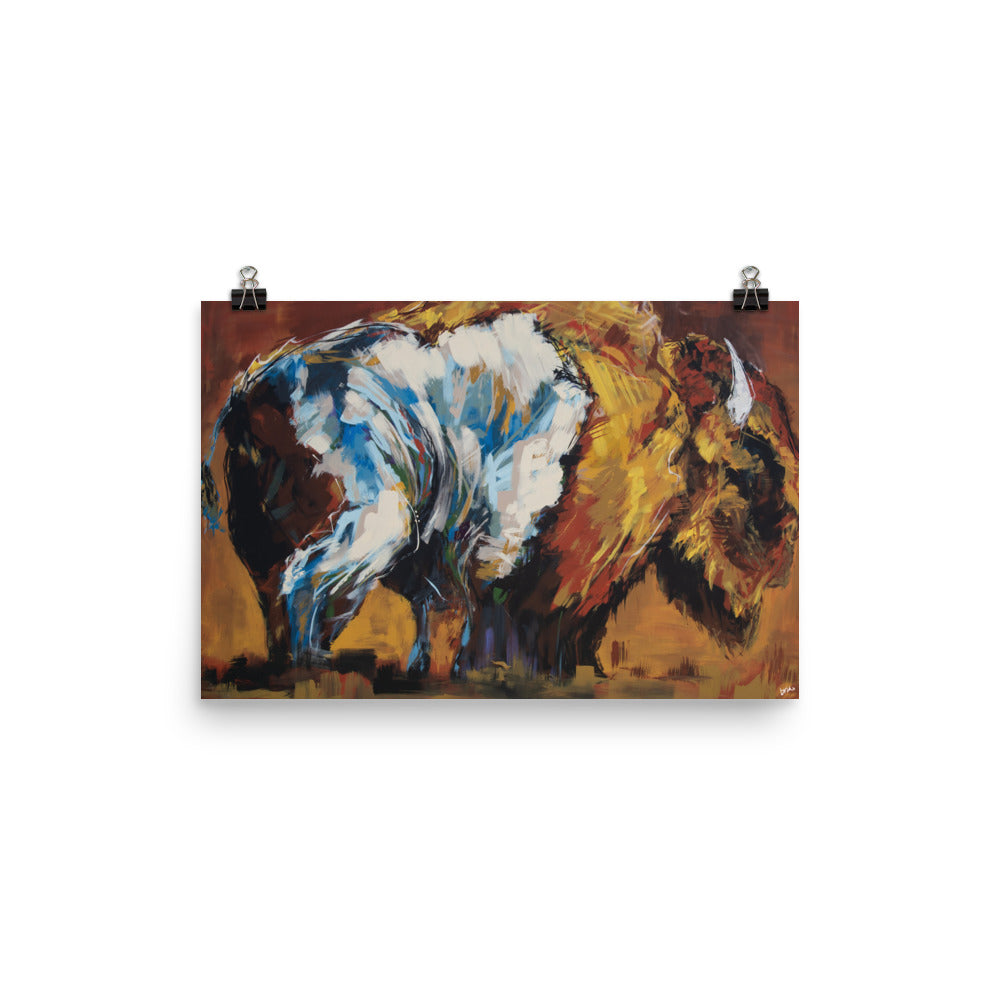 Sunset Bison Print