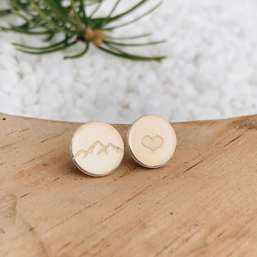 Mountain Love Earrings // COPPER