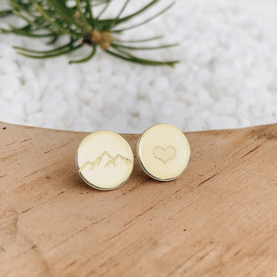 Mountain Love Earrings // GOLD