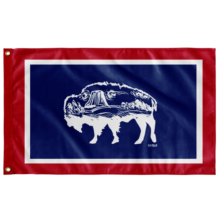 Devils Tower Wyoming Flag