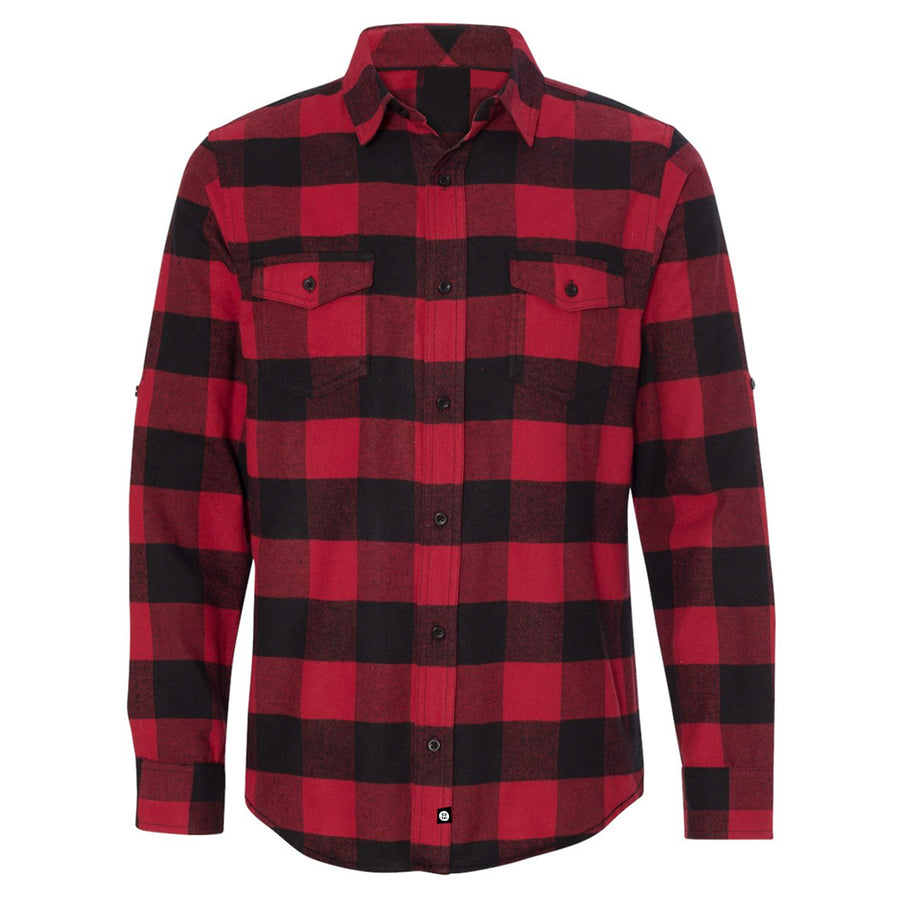 Guys Flannel // Red + Black