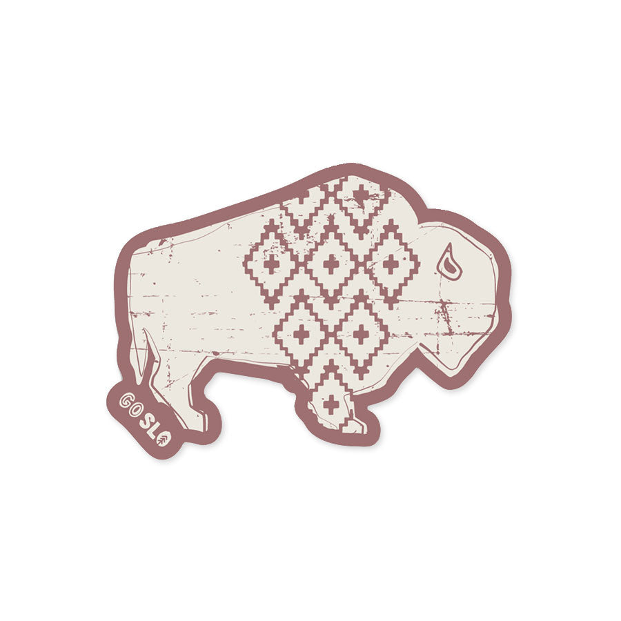 Rose Bison Sticker