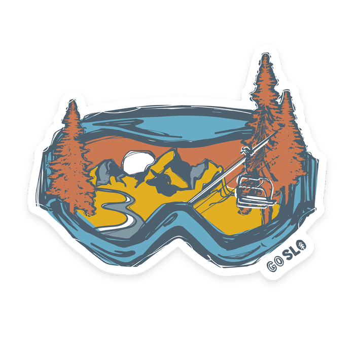 Jumbo Retro Goggles Sticker