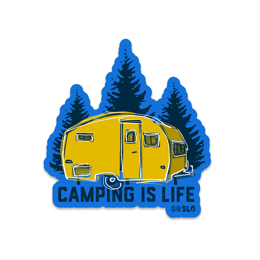 Camping is Life Sticker