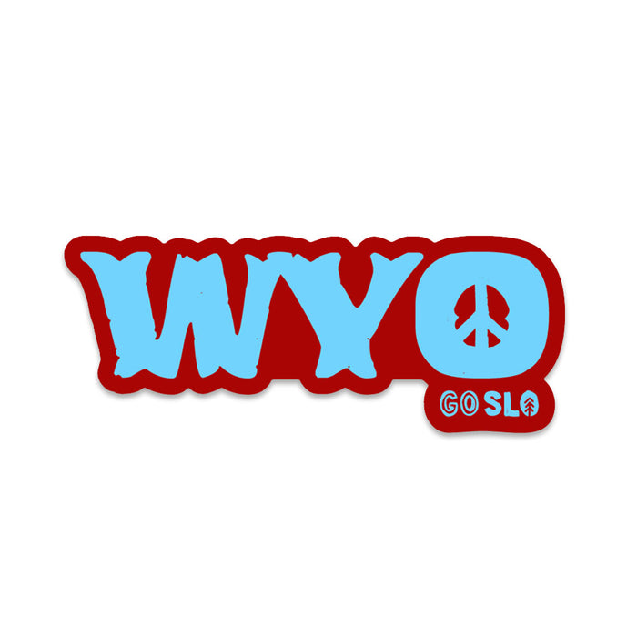 Peace + Wyo Sticker