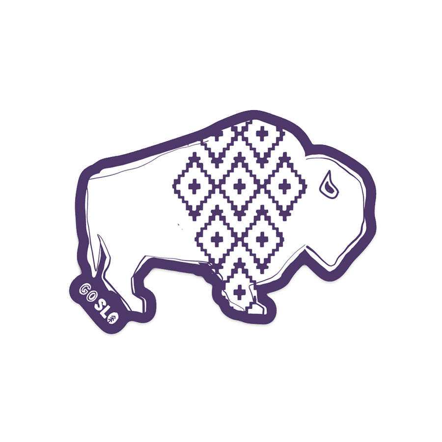 Geo Bison Sticker