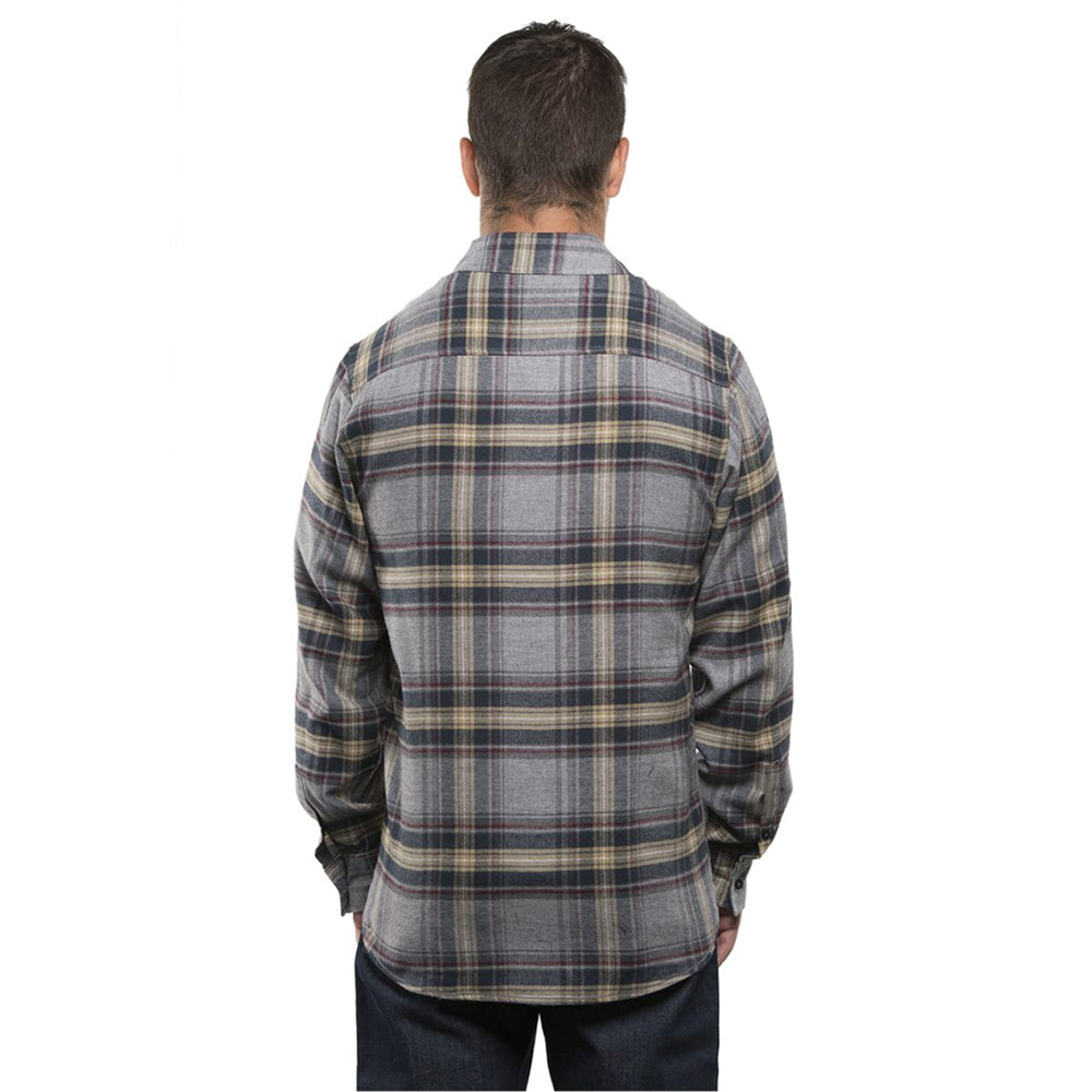 Guys Flannel // Tan + Grey