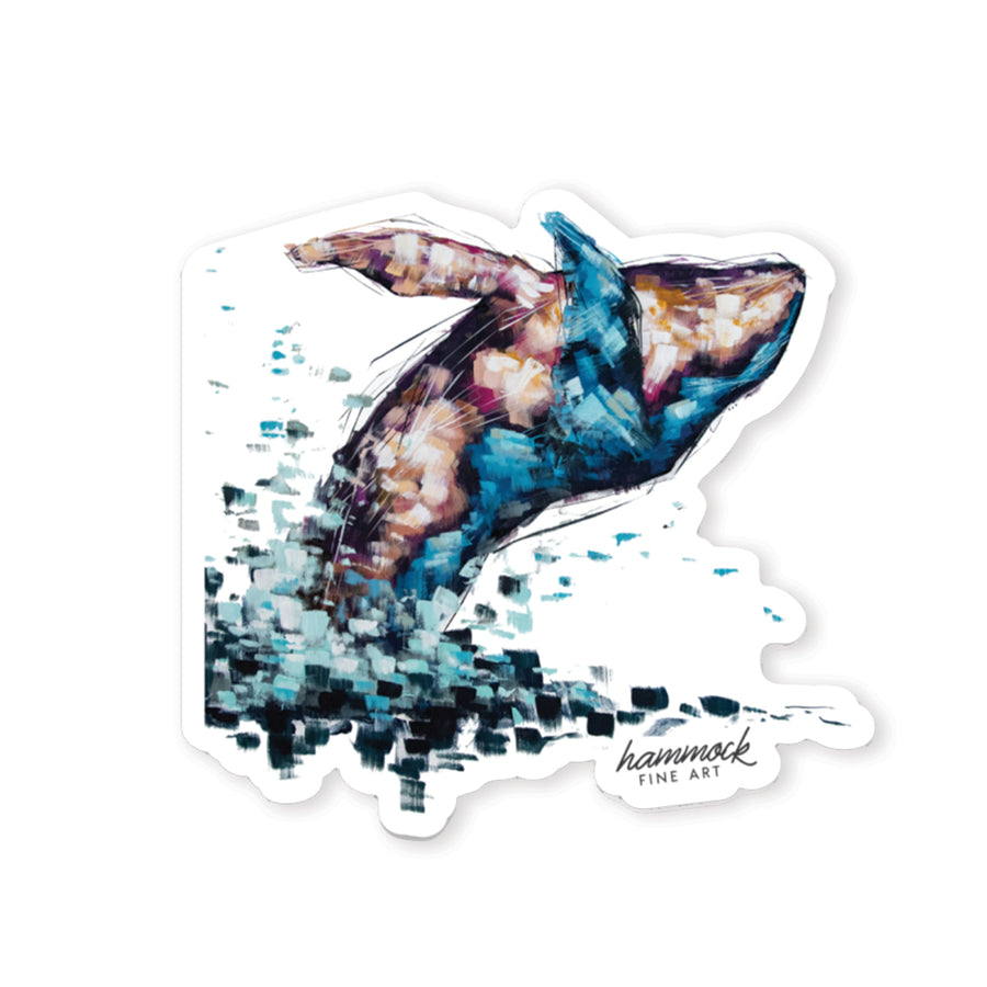 Violet the Humpback Whale Sticker