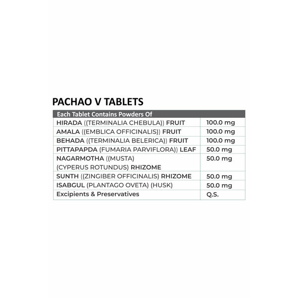 Pachao V (For Veg Lovers) - 30 Tabs