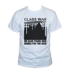 Class War T shirt Anarchist Political Protest Left Wing Printed Top