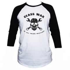 Class War T shirt Anarchist Political Protest Printed 3/4 Sleeve Top