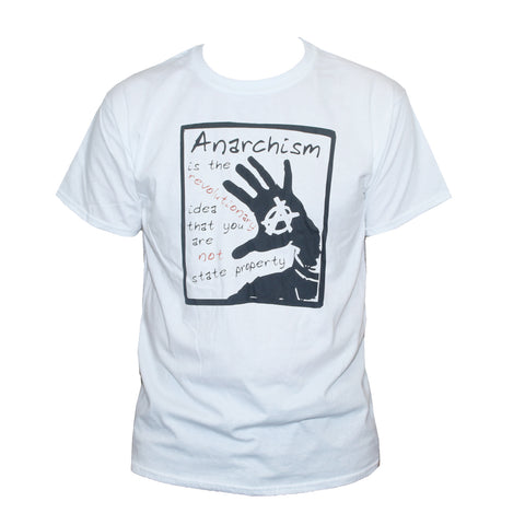 Anarchist Quote T shirt Political Left Wing Protest Top