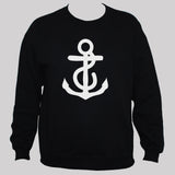 Anchor Sweatshirt Nautical Holiday Unisex Jumper Black S M L XL
