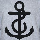 Anchor Jumper Grey Mens/Womens Nautical  Jumper S M L XL