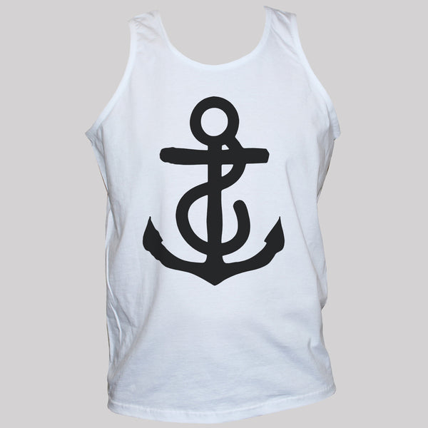 Anchor Nautical t shirt vest unisex holiday rockabilly sleevless top size s m l xl xxl