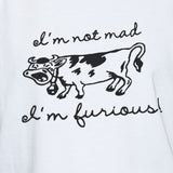 Furious Mad Cow T shirt/Vest Unisex Funny Party Unisex Top