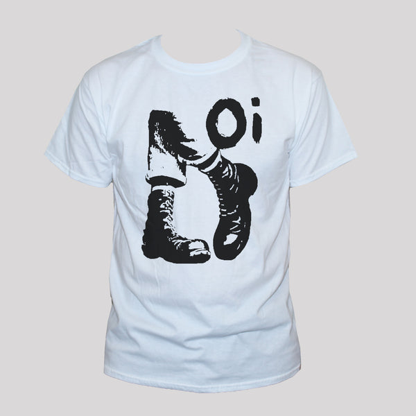 Oi Skinhead White Graphic T shirt Unisex Punk Rock Tee